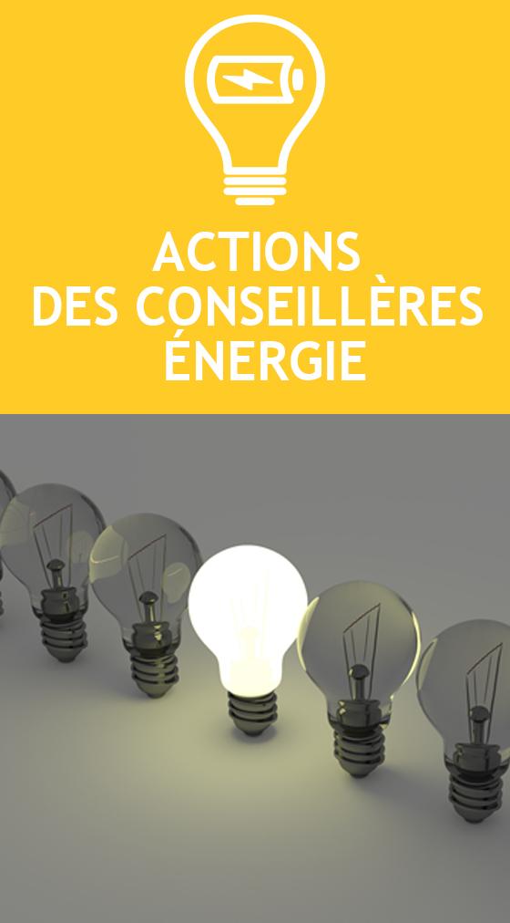 Actions des conseillères énergie