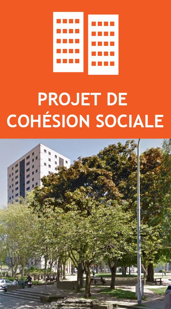 Projet de cohésion sociale square jacque franck