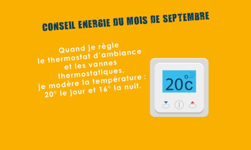 Conseil Energie du mois de septembre