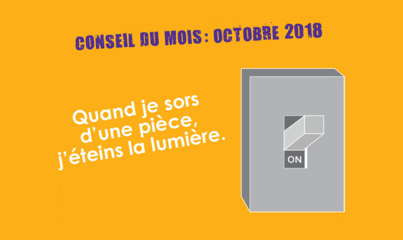 Conseil Energie du mois d'octobre