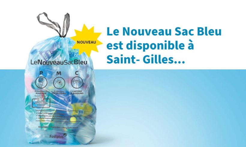 Le nouveau sac poubelle bleu à Saint-Gilles