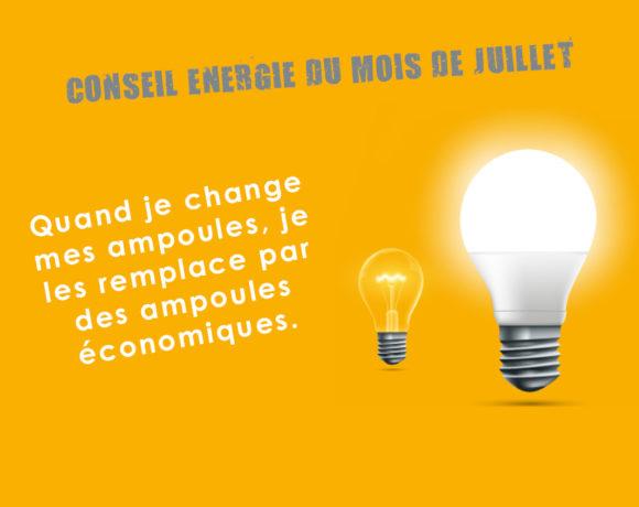 Conseil Energie du mois de juillet